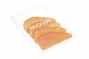 MOWI Pure Łosoś wędzony na zimno - 4 plastry