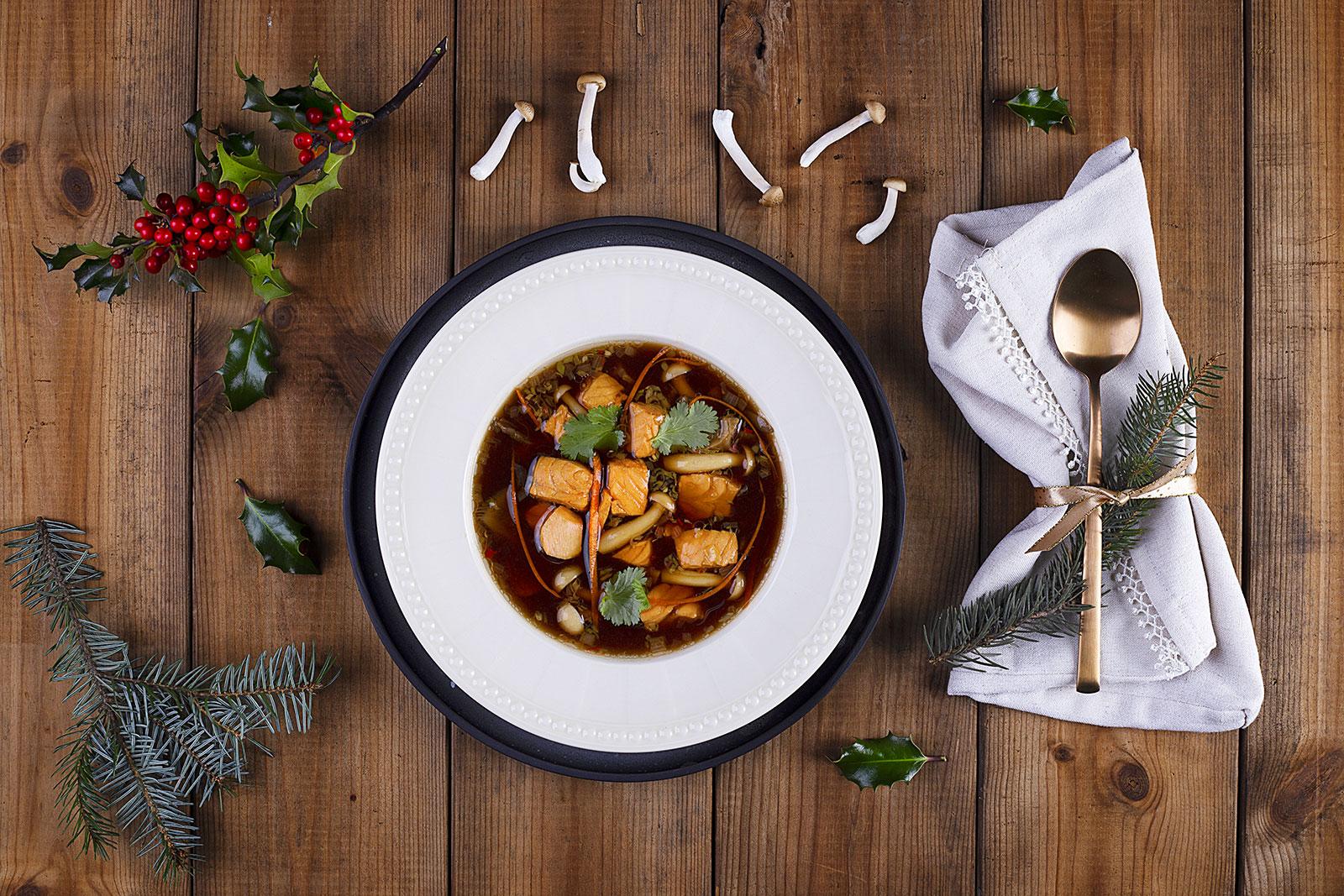 Zupa grzybowo-rybna