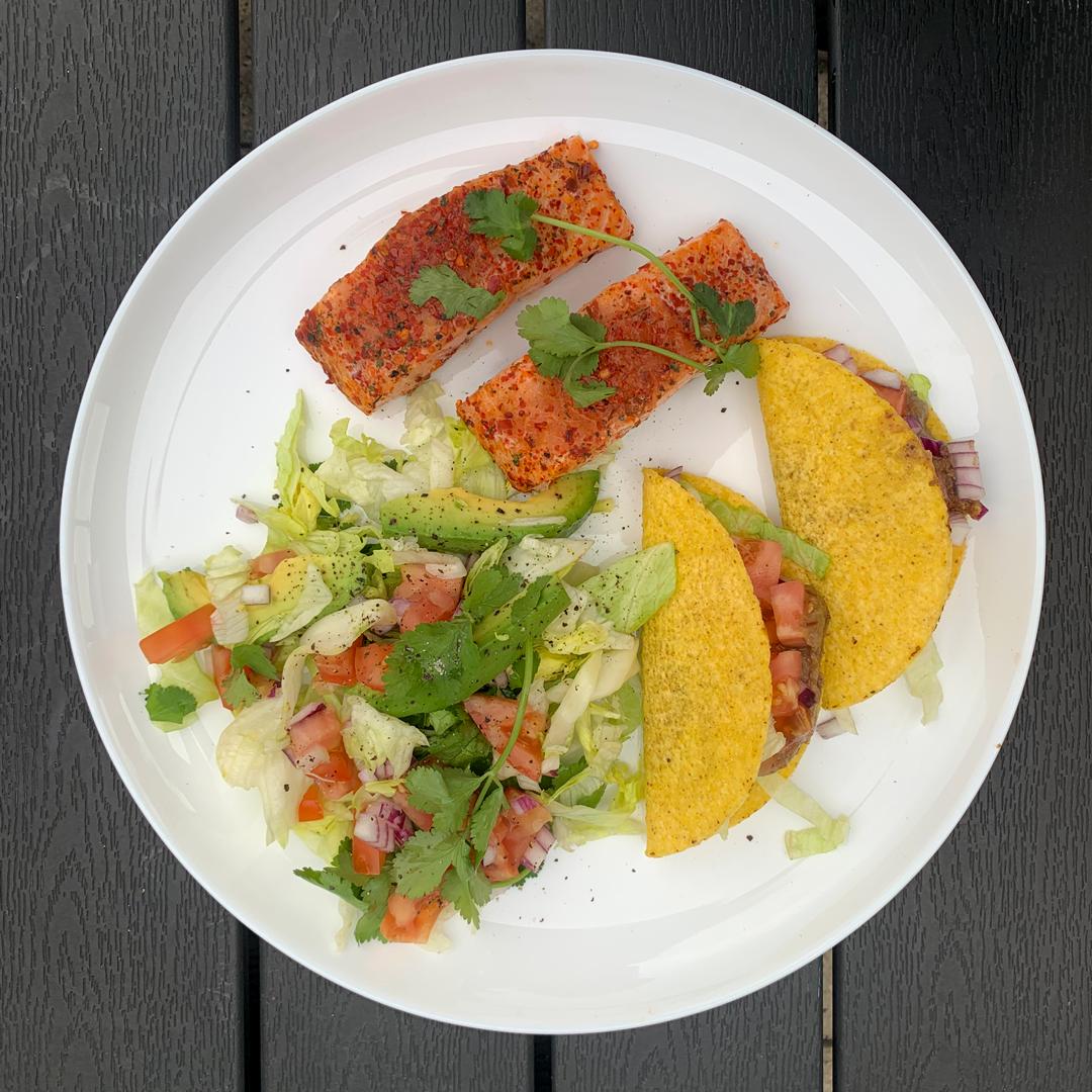 Porcja grillowa z łososia MOWI - po Meksykańsku, na grilla