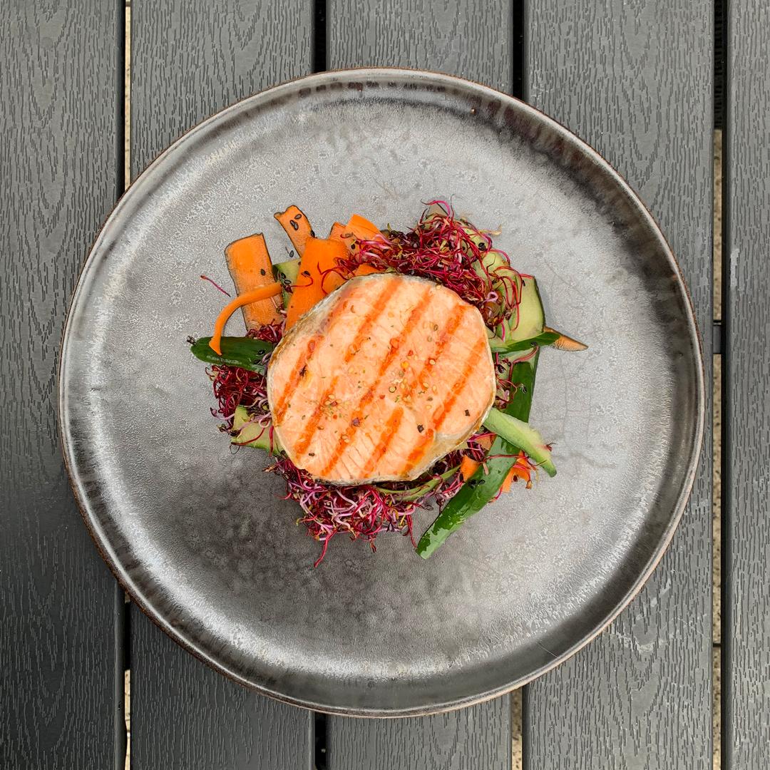 Stek z łososia - Japońskie barbeque, na grilla