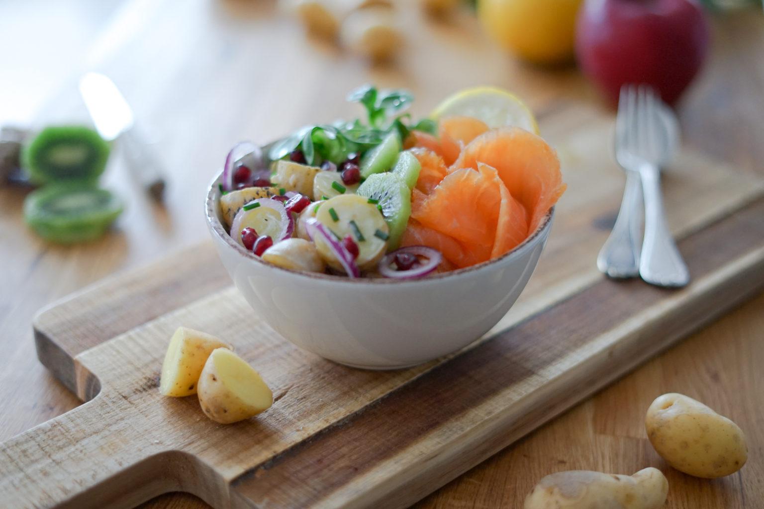 Salade de pommes de terre et saumon fumé MOWI