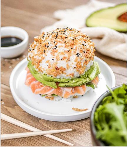 Sushi burger au saumon fumé MOWI