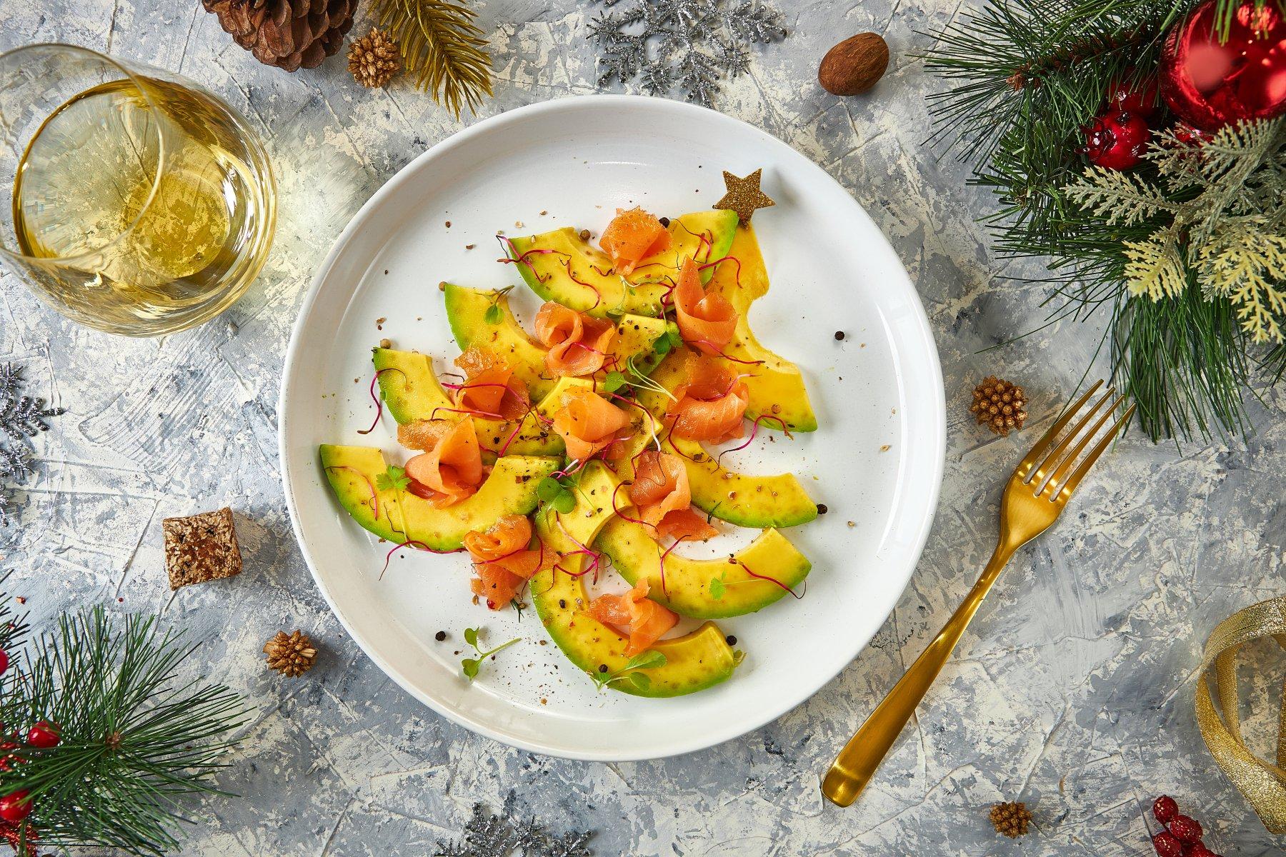 Salmon - Avocado Christmas Tree